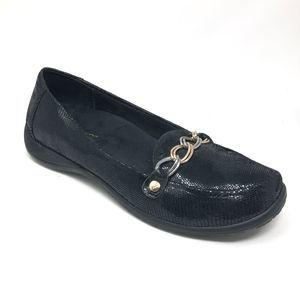 Vionic ALDA Black Chain Loafers Comfort Shoe 8.5